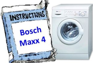 инструкция к Bosch Maxx 4