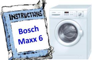 инструкция к Bosch Maxx 6