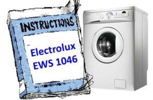инструкция к Electrolux EWS 1046
