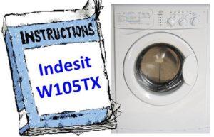 инструкция к Indesit W105TX