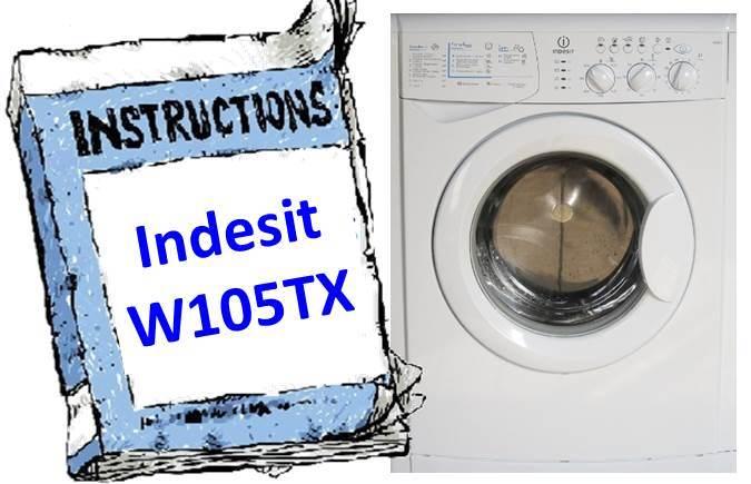 Инструкция для стиральной машины Indesit W105TX