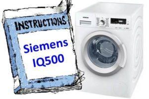 инструкция к Siemens IQ500