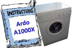инструкция Ardo A1000X