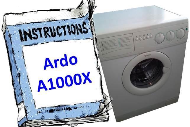 Инструкция для стиральной машины Ardo A1000X