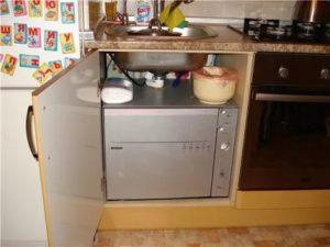 компактная посудомойка на маленькой кухне