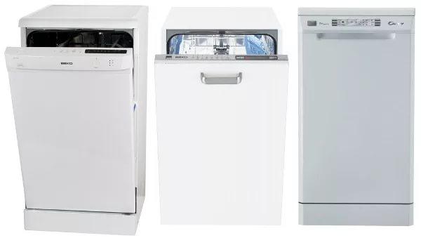 модельный ряд узких посудомоечных машин
