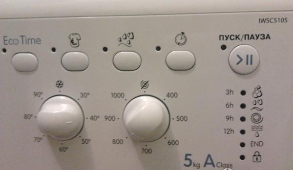 панель управления Индезит 5105