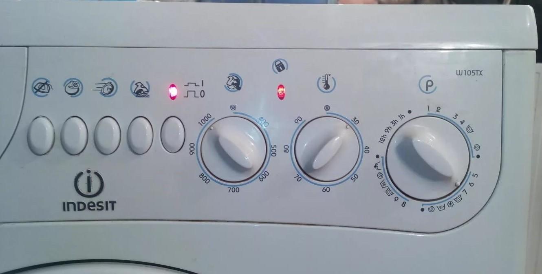 панель управления Индезит W105TX