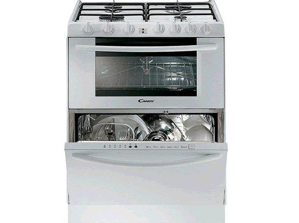 совмещенная варочная панель духовка и посудомойка