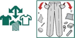 сортировка белье и извлечение всего из карманов