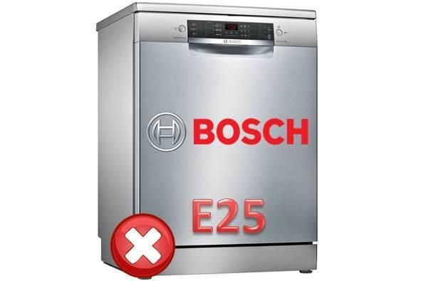 Ошибка E25 у посудомоечной машине Бош