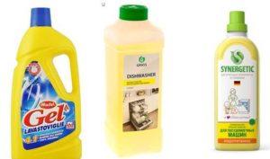 Жидкие средства для посудомоечных машин