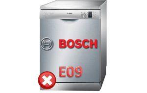 Ошибка E09 у посудомоечной машины Бош