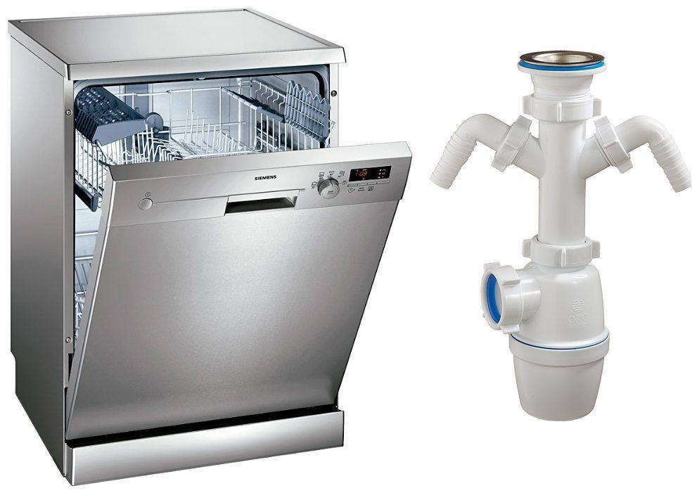 Как выбрать и установить сифон для посудомоечной машины