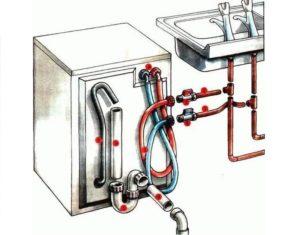 подключение и к горячей и к холодной воде