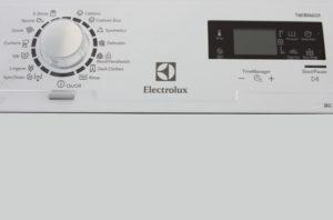 Electrolux EWT 1066 EDW панель управления
