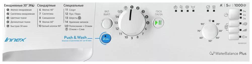 Indesit BWSB 51051 панель управления