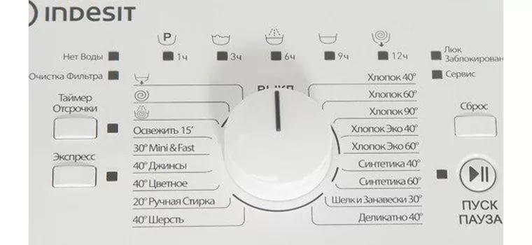 Indesit ITW A 5851 W (RF) панель управления