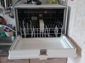 подключение настольной посудомойки