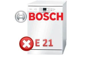 Как исправить ошибку Е21 у посудомоечной машины Bosch