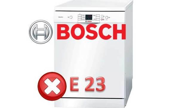 Как исправить ошибку E23 у посудомоечной машины Bosch