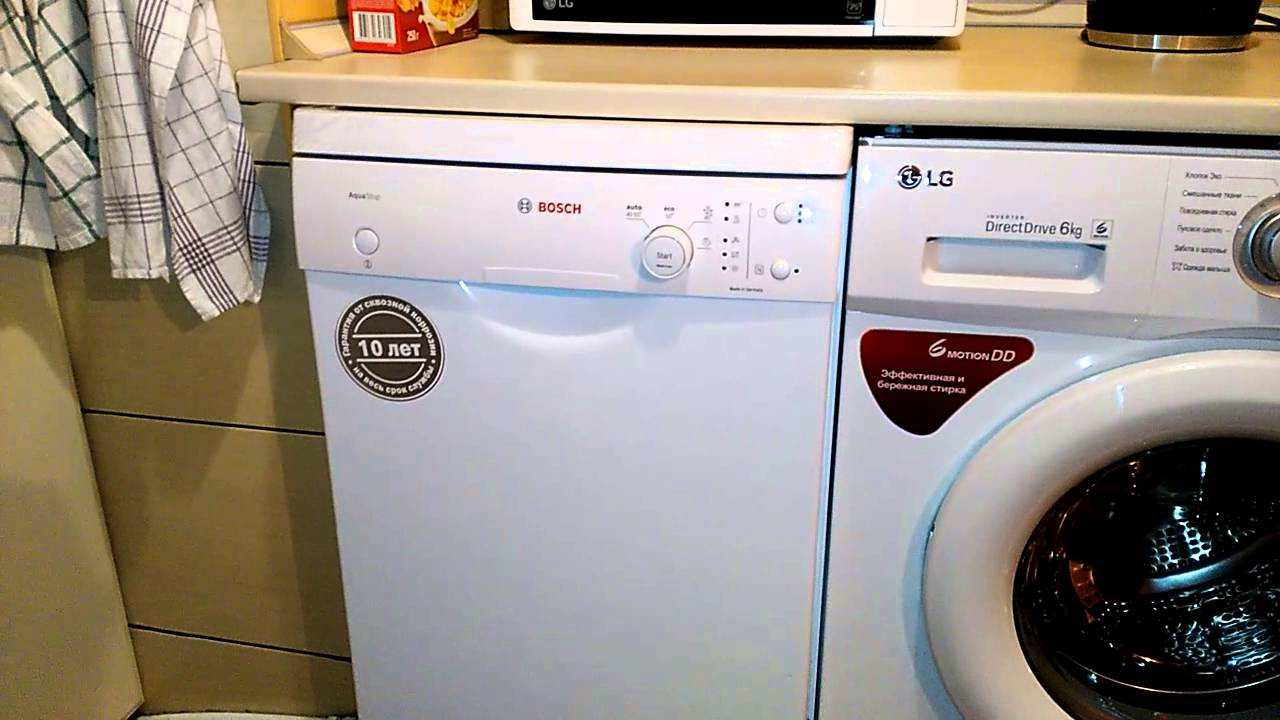 Как открывается посудомоечная машина Bosch