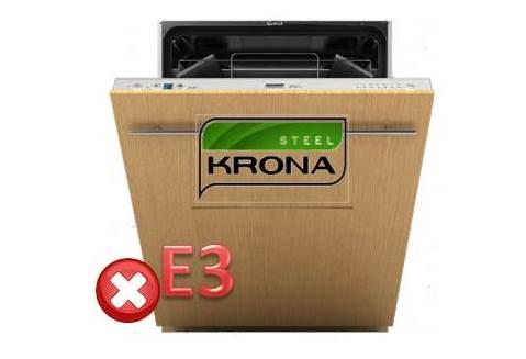 Код ошибки E3 в посудомоечной машине Крона