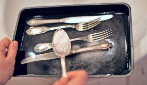 мытье мельхиоровой посуды