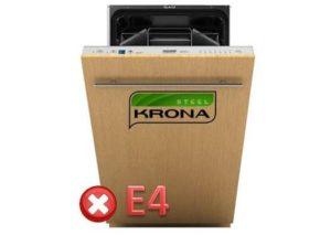 Код ошибки E4 в посудомоечной машине Крона