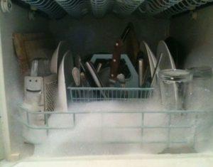 пена в посудомойке
