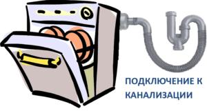 Слив от посудомоечной машины в канализацию