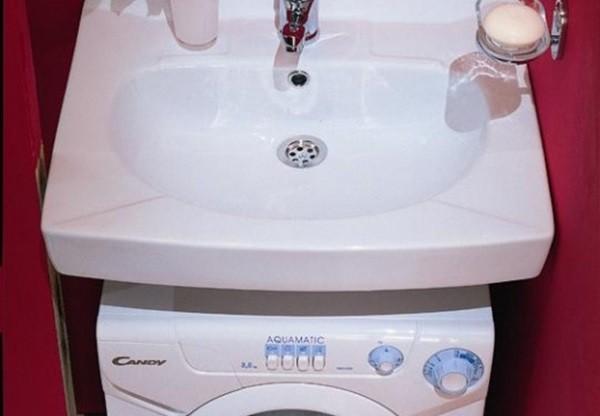Раковина Сантек над стиральной машиной