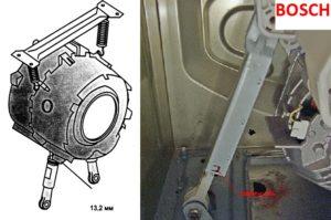 замена амортизаторов стиральной машины Бош