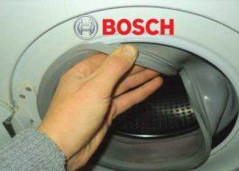 Как заменить манжету люка стиральной машины Бош