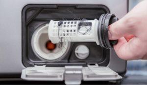 чистка мусорного фильтра в СМ Бош