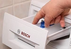 Куда сыпать порошок в стиральной машине Бош