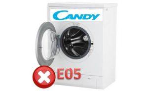 Ошибка Е05 на СМ Канди