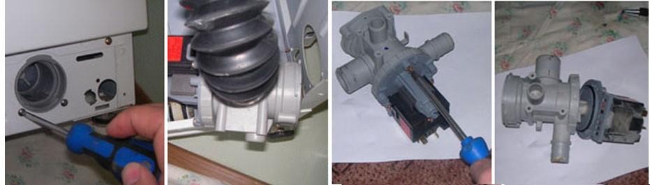 извлекаем фильтр вместе с улиткой и чистим