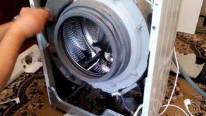 Как снять переднюю панель на стиральной машине LG
