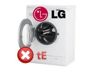 ошибка tE на СМ LG