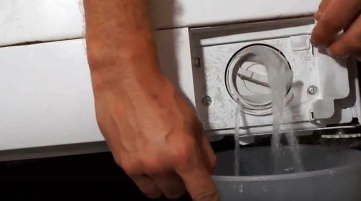 слить воду из стиральной машины Канди