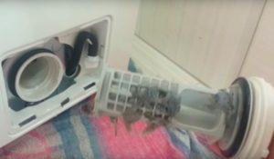 чистка фильтра стиральной машины Канди