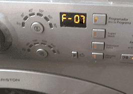 Ошибка F07 на стиральной машине Ariston