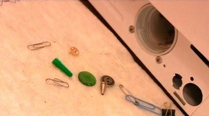 Посторонние предметы извлеченные из стиральной машины