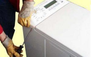 снятие панели со стиралки с вертикальной загрузкой