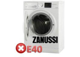 Код ошибки E40 на стиральной машине Zanussi