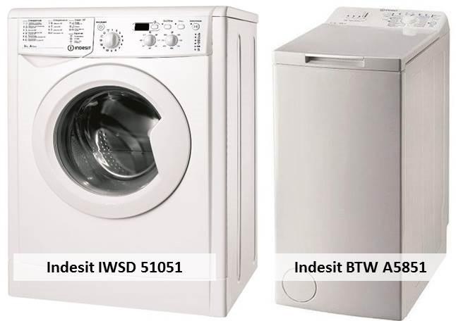 Indesit IWSD 51051 Indesit BTW A5851