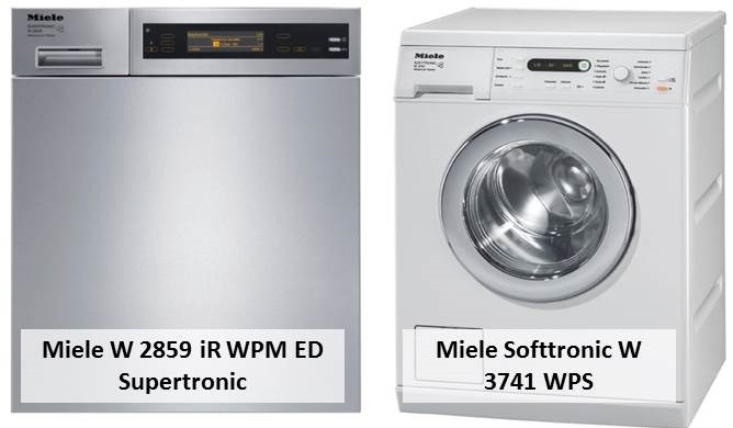 Miele Softtronic W 3741 WPS Miele W 2859 iR WPM ED Supertronic