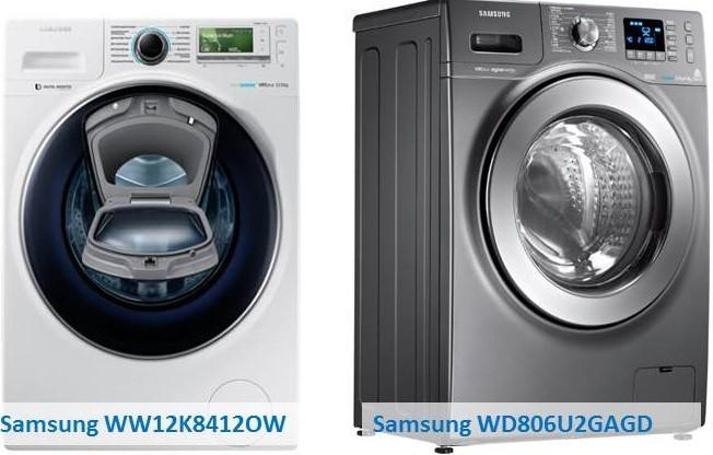 Samsung WW12K8412OW Samsung WD806U2GAGD