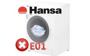 Ошибка E01 в стиральной машине Hansa